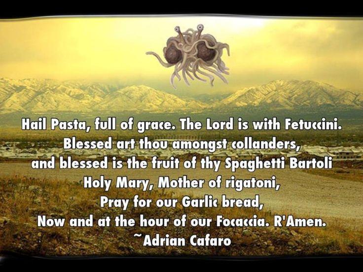 Giant spaghetti monster prayer