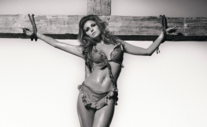 Raquel on the cross