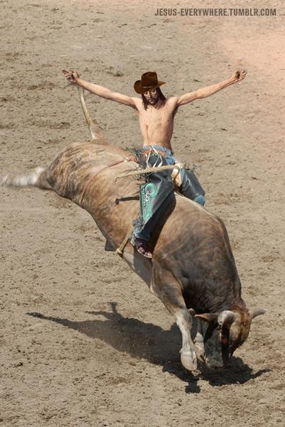jesus bull riding