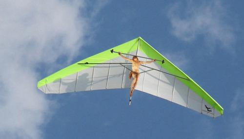 jesus hang gliding