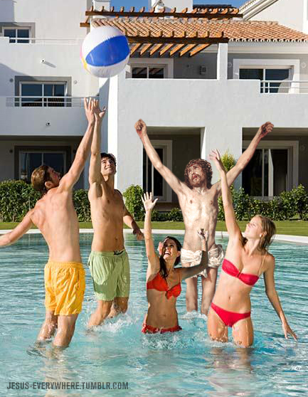 jesus pool party