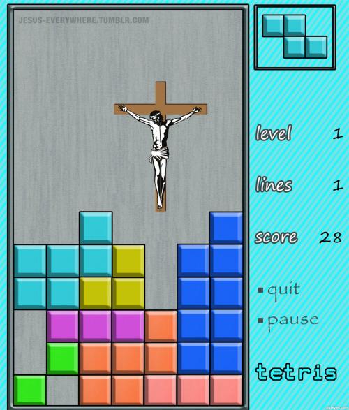 tetris jesus